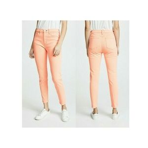 Rag & Bone Hirse Skinny Orange Jeans